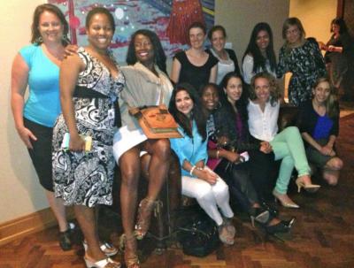 MBAWI LA Retreat at dinner